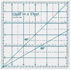Quilt-in-a-day 2001CC Six inch square up ruler