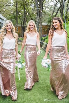 Two Tone Country Bridesmaid Dresses White And Rose Gold Sequins 2017 Cheap Formal Party Gowns Wedding Maid of Honor Dress Plus Size Cheap Bridesmaid Dresses Cheap Evening Dresses Online with $95.0/Piece on Sweet-life's Store | DHgate.com