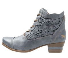 TR grey booties with lace.