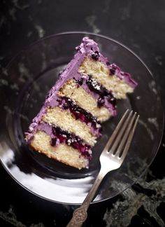 Sometimes the best ideas come from happy accidents. I had set out to make blueberry sauce for the boys' pancakes, instead this purple, berry-stuffed cake materialized. I'd been testing a recipe for...