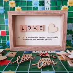 My Funny Valentine, Valentine Gifts For Kids, Valentines Day Decorations, Valentine Day Crafts, Handmade Valentine Gifts, Cute Valentine Ideas, Scrabble Letter Crafts, Scrabble Tile Crafts, Scrabble Art