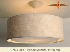 Pendentif lampe lin bordure lumineuse diffuseur par GruzdzBerlin