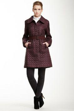 Elie Tahari Laurita Quilted Coat by Elie Tahari on @HauteLook