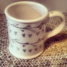 Handpainted mug by Mimolo Design
