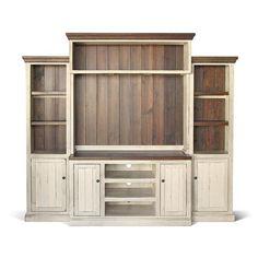 Entertainment Center TV Stand Reclaimed Wood by VintageMillWerks