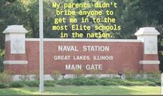 Navy Mom, Us Navy, Main Gate, Navy Military, Great Lakes, Illinois, Maine, How To Get, School