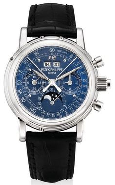 Platinum Patek Philippe perpetual calendar watch with split seconds chronograph (Reference 5004) made for Eric Clapton circa 2009
