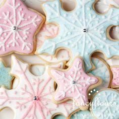 Pastel snowflakes for Nutcracker Ballet party