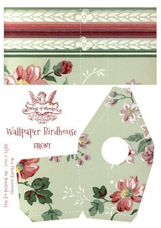 Wings of Whimsy: Wallpaper Birdhouse No 19