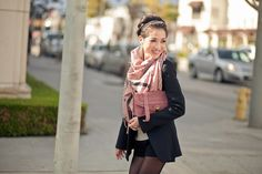 Rose :: Dusty pink scarf