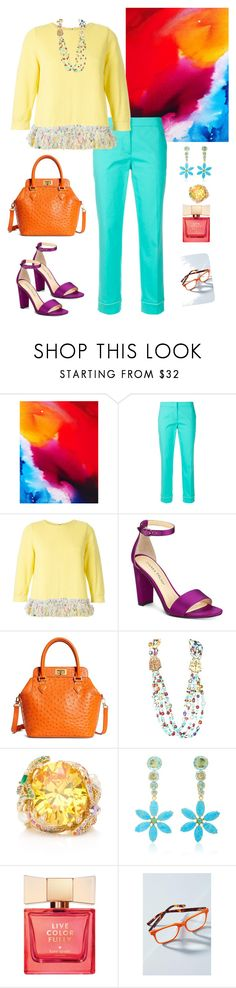 """Accessorized Brightly!💖👜👡💄"" by parnett ❤ liked on Polyvore featuring Emilio Pucci, Coohem, Ivanka Trump, Brooks Brothers, Giulia Colussi, Kate Spade and Anthropologie"