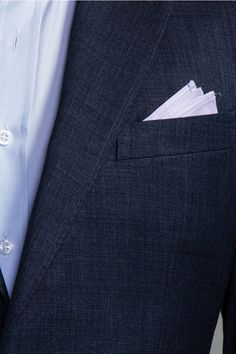 George and King basic blue-grey custom made suit $399