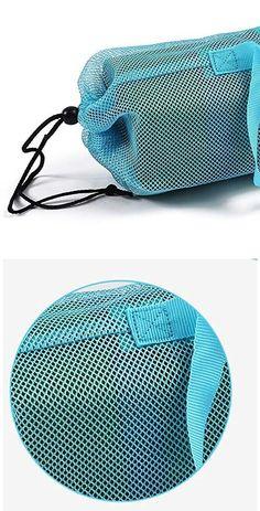 Multiple Size Nylon Yoga Mat Bag Adjustable Portable Mesh Center Pilates Mat Bag Fitness Carrier for Yoga Blue