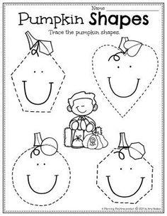 Pumpkin Shape Recognition & Tracing. Pumpkin Worksheets Preschool