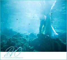 Are you doing a trash the dress shoot after your wedding? #underwater #wedding #photography