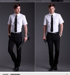 Male Occupation summer business casual short-sleeved shirt thin section $18.00
