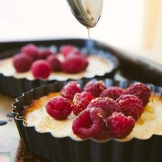 Raspberry and Honey Goat Cheese Tarts recipe
