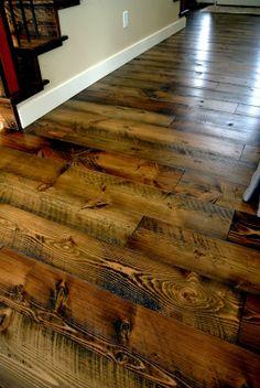 Sustainable Lumber Co. skip planed circle sawn flooring