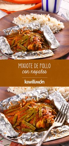 Mixiote de Pollo con Nopales Enjoy the seasonal flavors of zucchini and corn together in this easy to prepare Mexican dish. Mexican Food Recipes, Great Recipes, Dinner Recipes, Ethnic Recipes, Healthy Meals For Kids, Healthy Recipes, Easy Cooking, Cooking Recipes, Food Humor