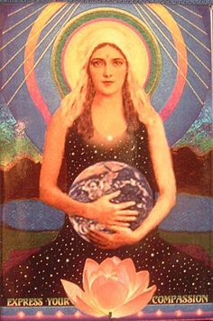 Divine Mother Mary and Gaia Divine Mother, Mother Goddess, Mother Mary, Art Beat, Sacred Feminine, Divine Feminine, Gaia, Madonna, Wicca