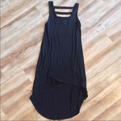 High Low Dress Black high low caged back dress Forever 21 Dresses High Low