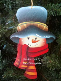 Wooden Hand Painted Ornament by stephskeepsakes on Etsy