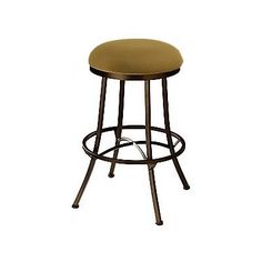 "Callee Charleston 34"" Swivel Bar Stool Frame Finish: Sun Bronze, Upholstery: Corona Earth"
