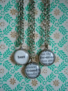 Three Best Friends Necklace Set by TheSlippedStitch on Etsy, $49.00