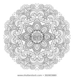 Find Vector Beautiful Deco Mandala Circle Abstract stock images in HD and millions of other royalty-free stock photos, illustrations and vectors in the Shutterstock collection. Blank Coloring Pages, Colouring Pics, Mandala Coloring Pages, Free Coloring, Coloring Books, Black And White Prints, Black White Pattern, Trippy Drawings, Dot Painting
