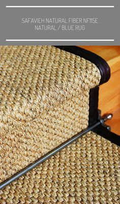 Sisal Vintage stair runner with stair rod detail carpet stairs Wall Carpet, Carpet Stairs, Carpet Flooring, Rugs On Carpet, Sisal Stair Runner, Staircase Runner, Staircase Ideas, Stair Runners, Hallway Carpet Runners