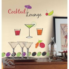 Martini Lounge, Cocktail Sticker