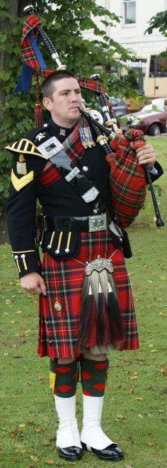 Photograph Piper The Royal Scots Dragoon Guards Scotland