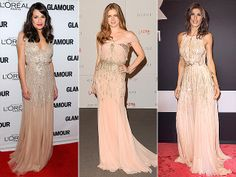 I love the sparkling blush gown trend