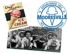 DeLuxe Ice Cream by Mooresville Ice Cream Company, Established 1924, Mooresville, North Carolina