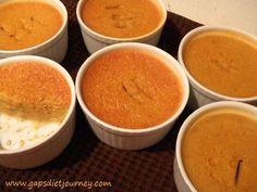 Pumpkin coconut milk custard.