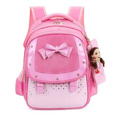 2016 New Fashion Butterfly Girls School Bags Children Backpack Primary Bookbag Orthopedic Princess Schoolbags Mochila Infantil