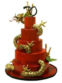 Dragon Wedding Cake  www.tablescapesbydesign.com https://www.facebook.com/pages/Tablescapes-By-Design/129811416695
