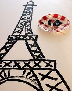 Cardboard Eiffel Tower Tutorial