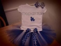 Los Angeles Dodgers inspired tutu outfit on Etsy, $35.00