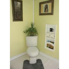 @Overstock - Recessed in the wall magazine rack, double toilet paper holder and shelf