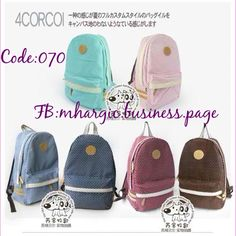 Back-to-school Bag  Polka Canvass Backpack  Code: Bag070 Size: L28 * H43 * W13.5cm Available Colors: Light Pink | Dark Blue  Price: Php 850 | USD 18  Ready for Shipping!   SMS / Viber / KakaoTalk : +639175085762 WeChat: Mhargic8 Follow  @msmhargic  on Instagram | Tumblr ☝️Pin IsuperLove Mhargic @ Pinterest  For bulk orders | Resellers Email: mhargic.business@gmail.com PM: www.facebook.com/mhargic.business.page