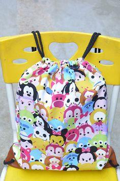disney tsum tsum mix drawstring bags Rope bag shoulder bag backpack 2015 new arr