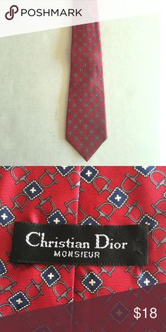 Christian Dior vintage neck tie Gently used and in great shape. Christian Dior Accessories Ties