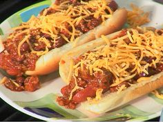Paula Deen's Chili Dogs http://www.foodnetwork.com/recipes/paula-deen/chili-dogs-recipe/index.html