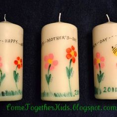 Mothers Day Fingerprint Candles