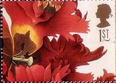 Greetings Stamps. 19th-century Flower Paintings 1st Stamp (1997) Tulipa gesneriana (Ehret)