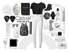 """Black and white"" by s-ash-ao on Polyvore"
