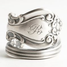 Victorian Sterling Silver Spoon Ring Warwick by Spoonier on Etsy