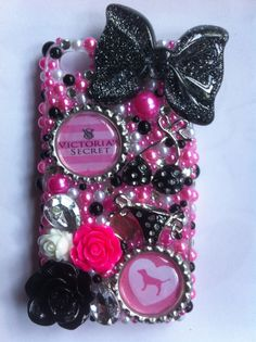 Victoria's Secret PINK iPhone 4 bling case by sparklingskye, $38.00