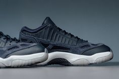 Simply a more casual and lighter edition of the iconic Air Jordan 11, this iteration is made of a mixture of leather and suede accents,...
